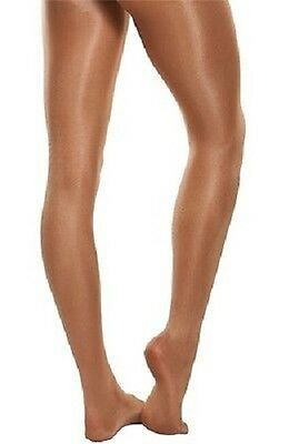 Body Wrappers C55 Girl's Size Medium (8-10) Toast Ultimate Shimmer Footed Tights