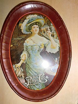 PEPSI COLA TIP TRAY of the GIBSON GIRL RED TRAY VERY VINTAGE