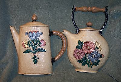 Homco Home Interior 1995 Country Kitchen Coffee Pot Teapot Wall Plaques #3309