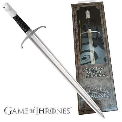 "Game of Thrones Jon Snow Longclaw Sword Replica 9"" Letter Opener"