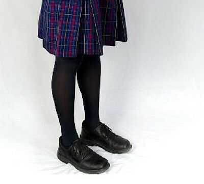 Children Girl Tights Stockings Opaque Navy Blue School Uniform Stocking