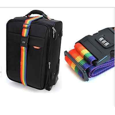 Utility Travel Luggage Belt Packing Strap Rainbow Color With Coded Lock Baggage