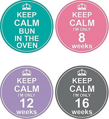 Personalised Weekly Pregnancy Stickers, Belly Stickers, Baby Bump Stickers_P005