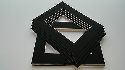Black picture and photo frame mounts. Ideal sizes & pack quantity