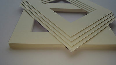 Antique White picture and photo frame mounts. Ideal sizes & pack quantity