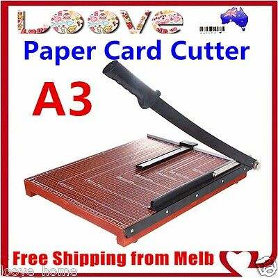 Paper Cutter A3 To B7 Wood Base Guillotine Page Trimmer Knife 12 Sheets Size L
