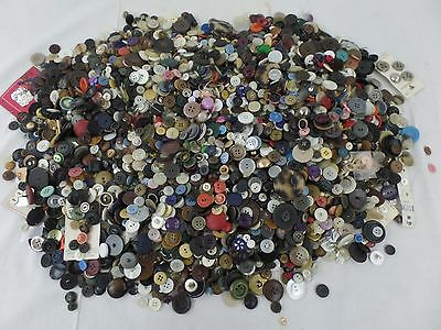 Vintage Buttons Assorted Mixed Varieties Colors Large Lot of 13+ Pounds