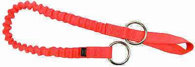 Weaver Leather Orange Bungee Arborist Chain Saw Strap with Two Rings