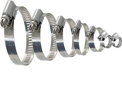 Stainless Steel Mild Hose Clamps Clips Like Jubilee Clip Fuel Hose Pipe 1-101mm