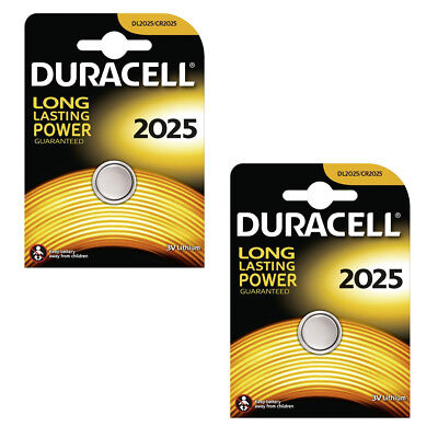 1/2 Duracell CR2025/DL2025/ECR2025 Lithium Battery 3v Button Coin Cell Batteries