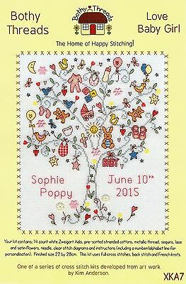 Bothy Threads Love Baby Girl Tree For A Princess Cross Stitch Kit Kim Anderson