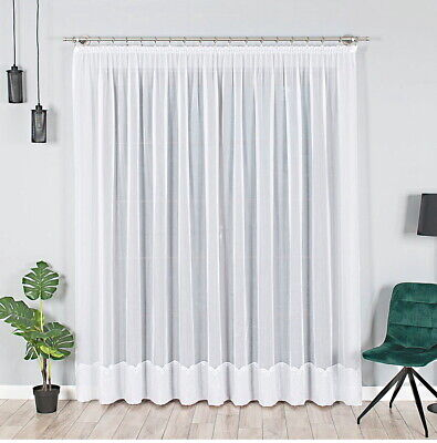 neu store gardine voile mit effektsaum gardinenband auspacken aufh ngen fertig. Black Bedroom Furniture Sets. Home Design Ideas