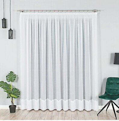 neu store gardine voile mit effektsaum gardinenband auspacken aufh ngen fertig eur 20 00. Black Bedroom Furniture Sets. Home Design Ideas