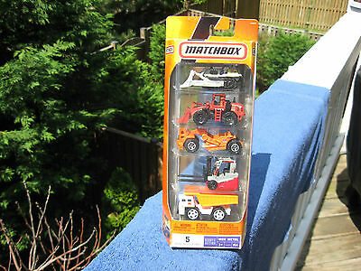 Matchbox 2007 Ready For Action MBX Metal 5-Pack Construction Set # N9644