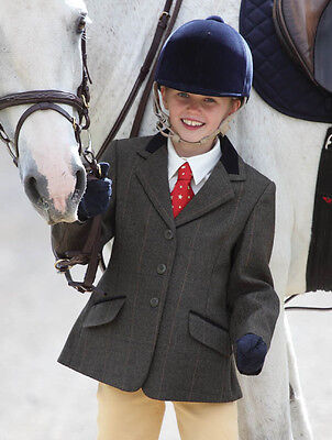 New Shires Children's Huntingdon Show / Hacking Jacket Green Check