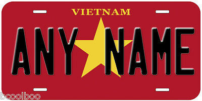 Vietnam Flag Novelty Car License Plate