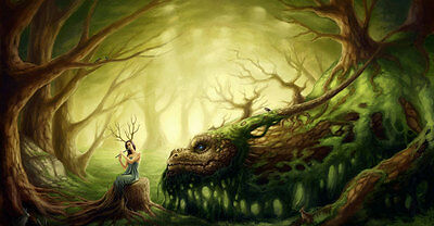 Enchanted Forest Fantasy Fairy Full Wall Mural Photo Wallpaper Home Dec 3D Kids