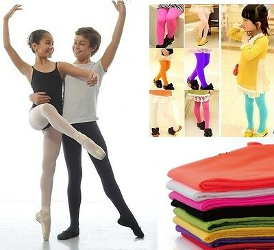 Girl Kids Fashion Opaque Tights Pantyhose Hosiery Stocking for Ballet Dance