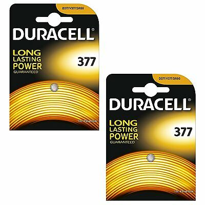 New Duracell 377 Watch Batteries Silver Oxide Battery Button Coin D377 AG4 UK