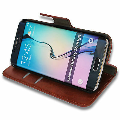 samsung galaxy s6 edge cover case sleeve wallet book folio flip pouch flat stand