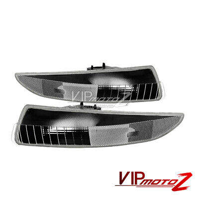 1993-2002 Chevy Camaro Black Frosty Front Bumper Signal Parking Corner Lights