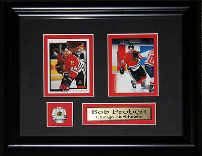 Bob Probert Detroit Red Wings 2 Card frame