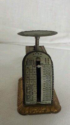 Antique June 1836 Patented Pelouze MFG Star Postal Scale