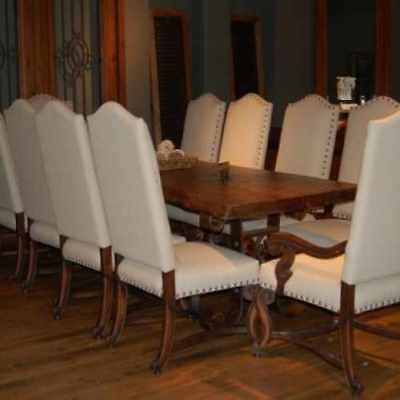 Amazing hand carved Dining room chairs CY3483