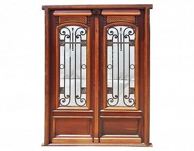Amazing restored and finished Antique Double Entry Front Door B1189