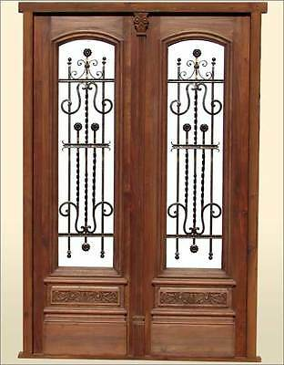 Unique and Beautiful Double Entry Front Wood Door A1918