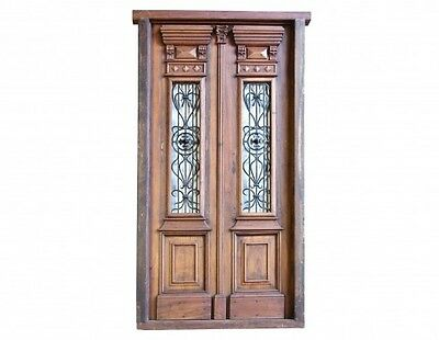 Amazing Italian Antique & Restored Double Entry Door A1619