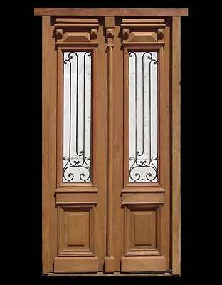 Fully restored Antique Double Front Entry Wood Door 1785