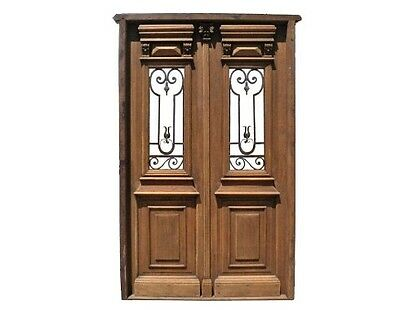 Double Front Door wrought iron inserts A1790