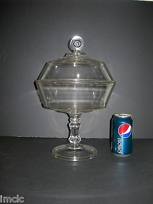 Beautiful EAPG Antique-Vintage Lg CENTERPIECE COMPOTE~Awesome Finial~Footed~Lid