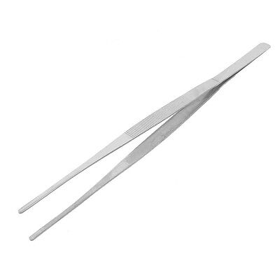 Silver Straight Point Tip Stainless Steel Nonmagnetic Tweezer 29.5cm Long New