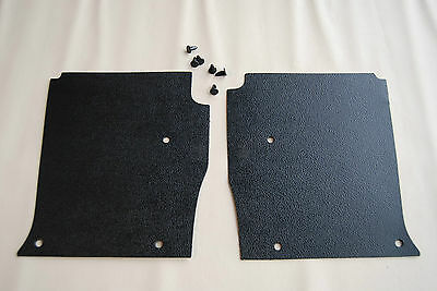 LH LX UC HOLDEN TORANA Kick Panels Black (pair) Inc 6 Trim Buttons Top Quality
