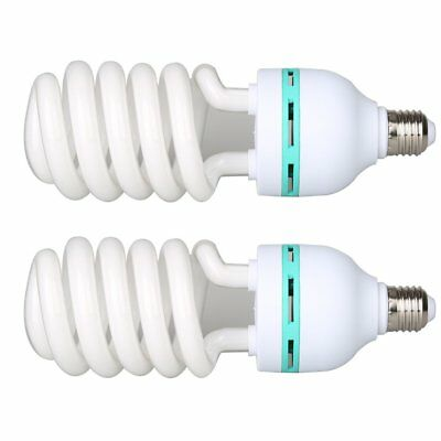 2X Video Studio Continuous E27 Fluorescent Tricolor Light Bulb 5500K 115W 240V