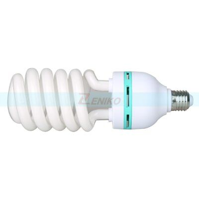 Video Studio Continuous E27 Fluorescent Tricolor Light Bulb 5500K 115W 220V-240V