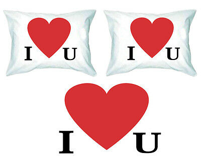 """And A Good Cup Of Coffee/"""" Couples Printed PillowCases 2 /""""All You Need Is Love"""