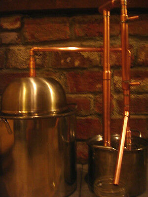 ... Steel Copper Pot Still Boiler & Thumper Distill Distillation Moonshine