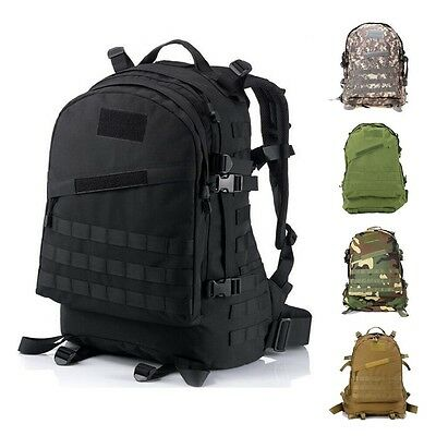 40L 3D Outdoor Tactical Military Backpack Rucksack Trekking Hiking Camping Bag