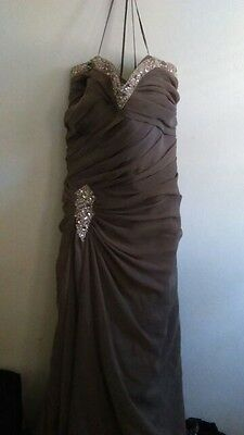 Dave Johnny W Pearls Long Evening Gown Formal Prom W Jacket Sz