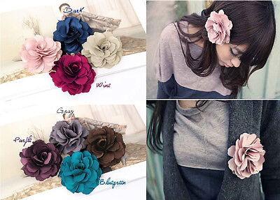 Fashion Lady Peony Flower Hair Clip Hairpin Brooch for Beauty Decoration