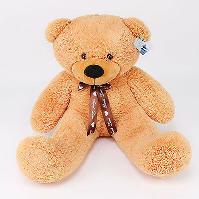 "Joyfay® 39"" 100cm Orange Huge Teddy Bear Stuffed Plush Toy Birthday Gift"