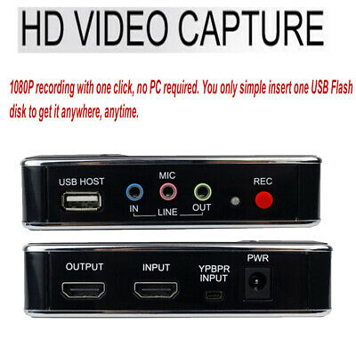HD TV Video Capture for Xboxone/360 PS2 PS3 PS4 WIIU Video Recorder Box