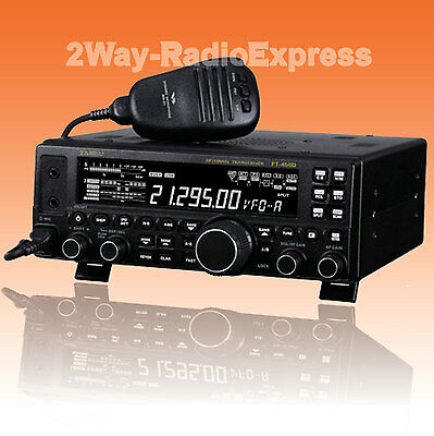 YAESU FT-450D, 100 Watts HF-50 MHz Tranceiver,UNBLOCKED TRANSMIT with AUTO TUNER