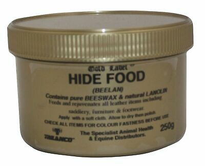 GOLD LABEL HIDE FOOD 250g - 1Kg horse pony leather saddle nutrient cream wax