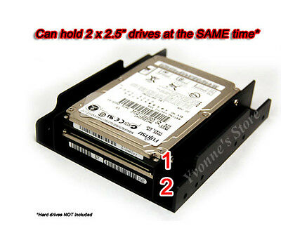 """2.5""""SSD/Hard Drive to 3.5"""" Drive Bay Adapter Mounting Bracket HDD Converter Tray"""