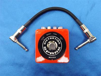 Mooer SPARK Distortion Micro-Pedal, Modern Hi-Gain W/Patch Cable-SPARK SERIES