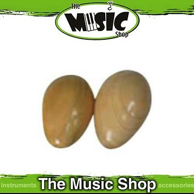New Pair Mano Percussion Large Wooden Egg Maracas - Polished Finish - UE780N